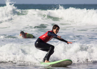 Clase de surf Peña Txuri Chico
